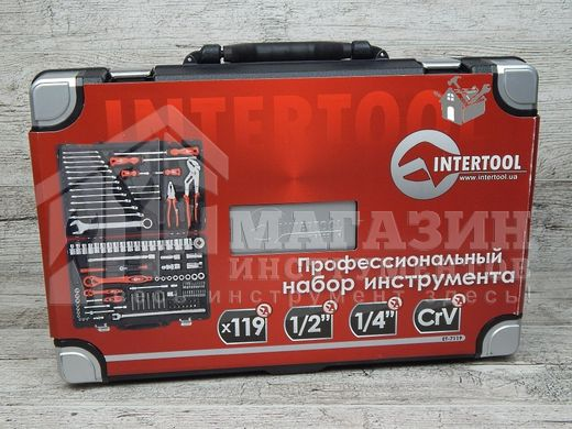Набор инструментов Intertool ET-7119 (119 предметов)